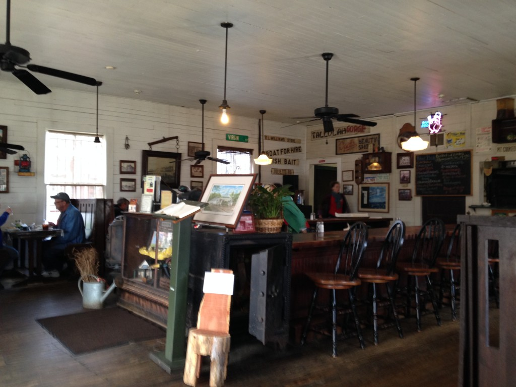 Inside the Whistle Stop Cafe