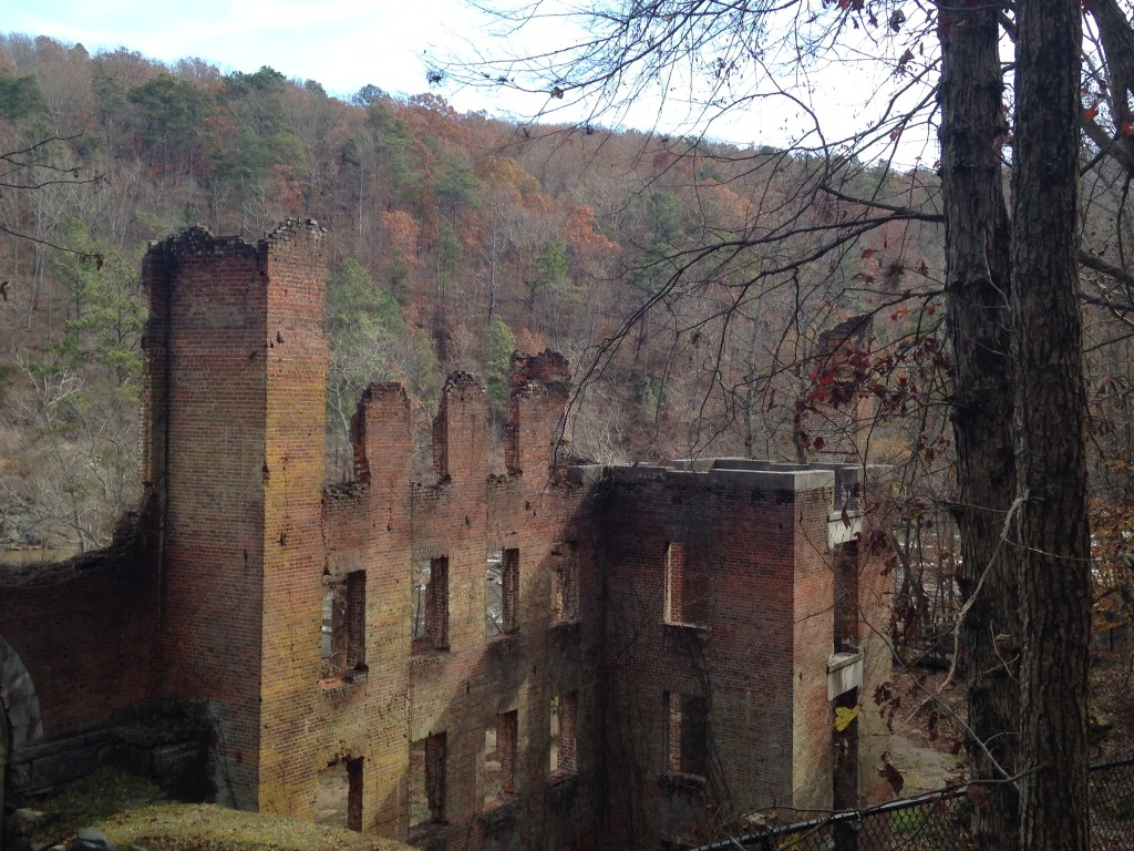 Mill ruins of the New Manchester Manufacturing Company
