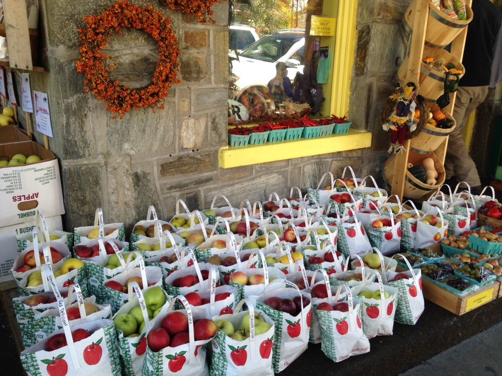 A full selection of fresh apples in Blowing Rock