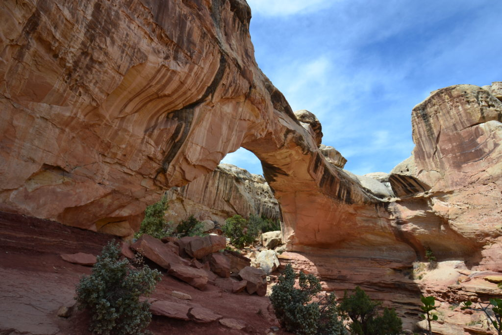 The Hickman Bridge at Capitol Reef NP
