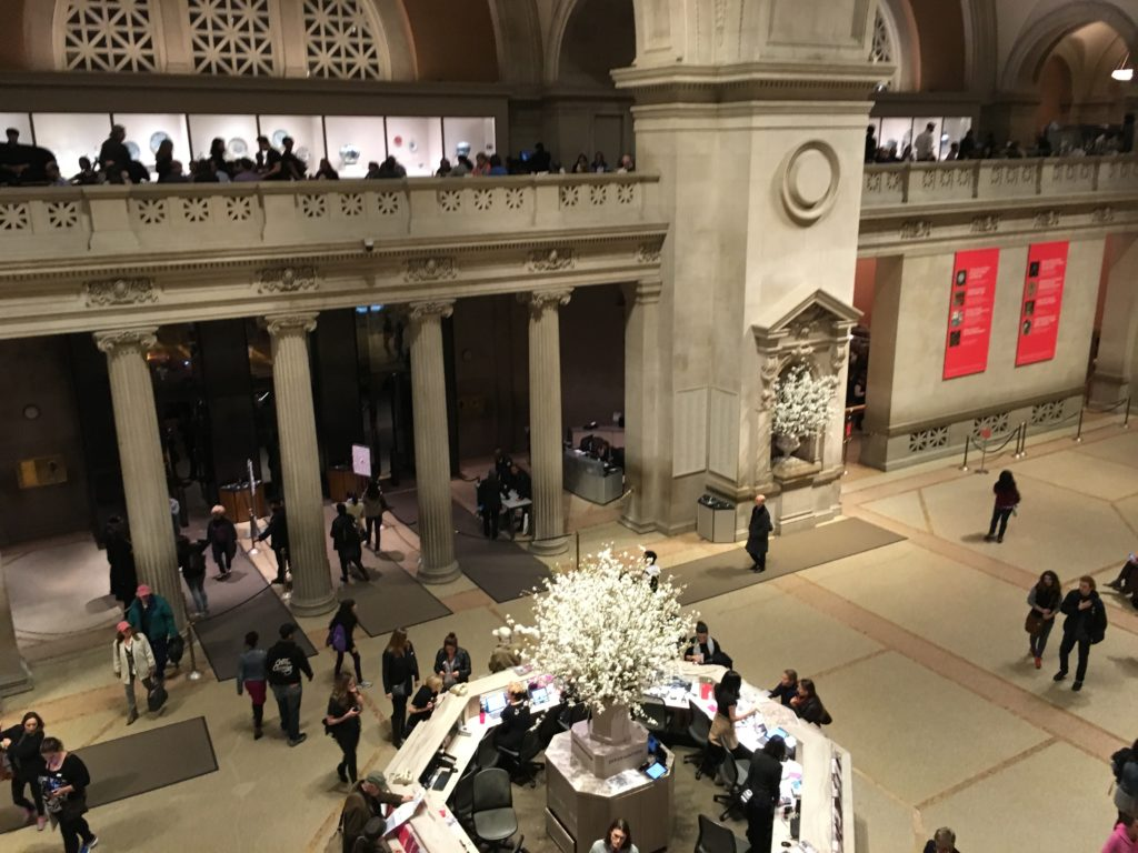 The lobby at the Met