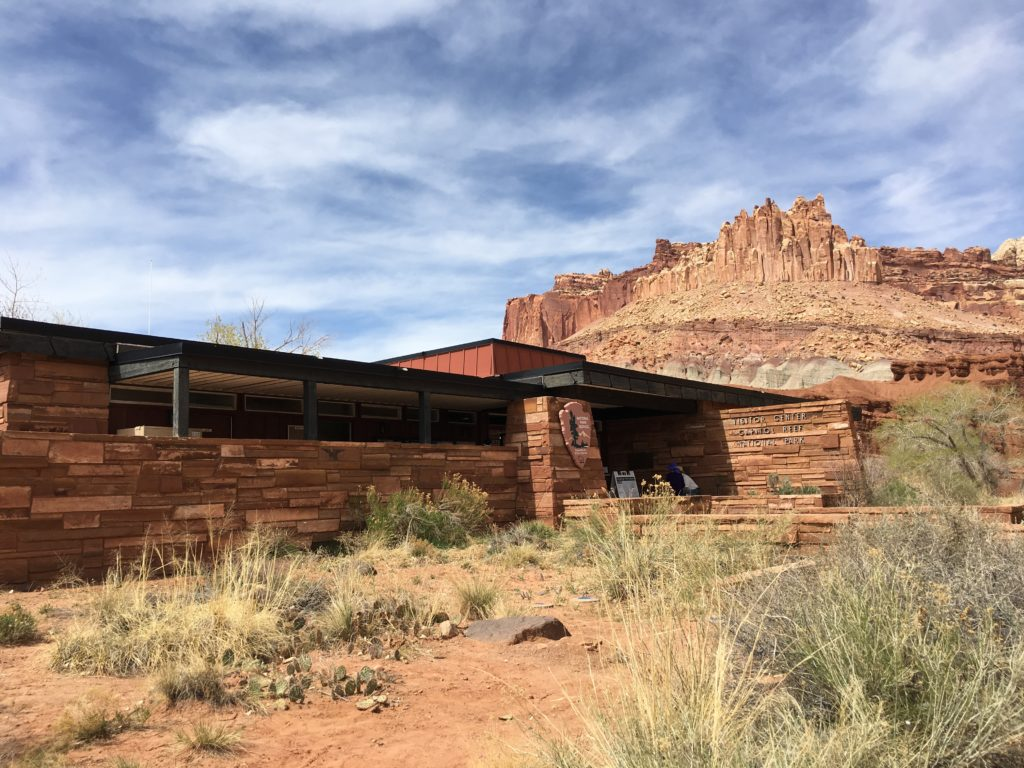 Even the visitor center blends into the landscape.