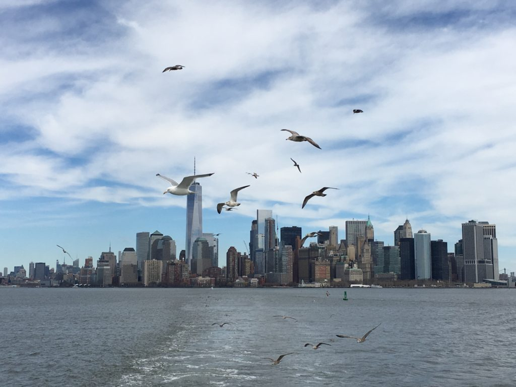 NYC skyline from the ferry