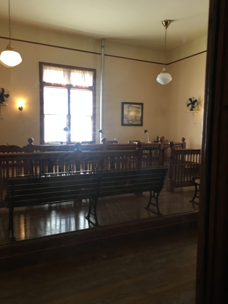 Courtroom at Ellis Island