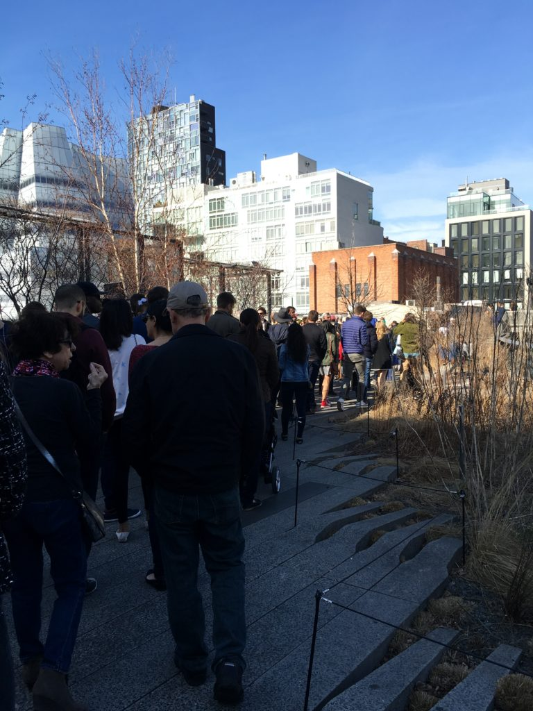 You can see all the people walking the High Line
