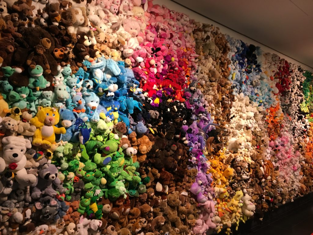 Art made with stuffed animals